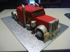 Peterbilt Cake for Jojoe Custom Peterbilt, Peterbilt 379, Birthday Cakes For Men, Boy Birthday, Truck Cakes, Gateaux Cake, Truck Interior, Character Cakes, Frozen Cake