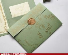 Okay, a little geeky, but cute! Who wouldn't want invites with a map of Tolkein's Middle Earth on them?