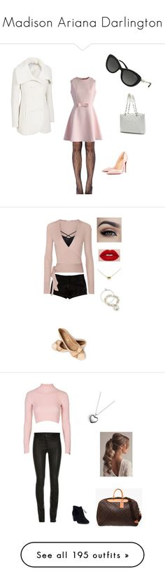 """""""Madison Ariana Darlington"""" by fashionistaax on Polyvore featuring Chicwish, Jessica Simpson, Christian Louboutin, Chanel, L'Agence, Etro, Tiffany & Co., Topshop, Clarks and Louis Vuitton"""