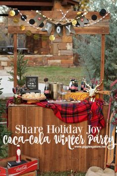 Share Holiday Joy with a Coca-Cola Winter Party and take a break from the hustle and bustle of the season! #ad #shareholidayjoy