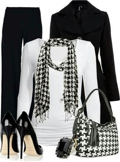 Houndstooth. Black & White. I'd probably have to pair it with jeans, though.