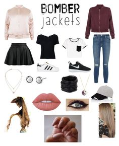 """Untitled #64"" by montrosecheer on Polyvore featuring New Look, Frame Denim, NIKE, adidas Originals, Michael Kors, Monsoon, Saachi, rag & bone, Lime Crime and bomberjackets"