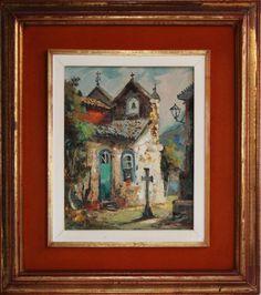 DURVAL PEREIRA - óleo sobre tela, assinado e belamente emoldurado. Medida da tela 22x27cm.