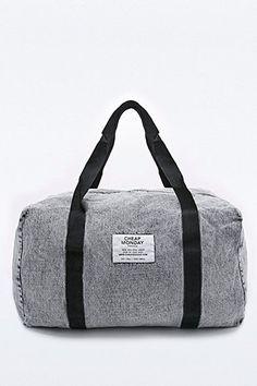 Cheap Monday - Sac de voyage carré en jean gris