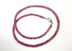 42CM LINE SAPPHIRE PINK FACETED BEADS NECKLACE 64 CARATS 3X3.5X4MM13  TANDO SAPPHIRE GEMSTONE BEADS,WELL POLISHED GEMSTONE, BEADS FROM GEMROCKAUCTIONS