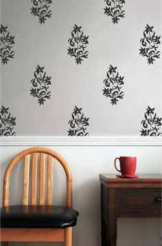 Hey, I found this really awesome Etsy listing at https://www.etsy.com/listing/157944337/wall-decal-wall-pattern-damask-pattern