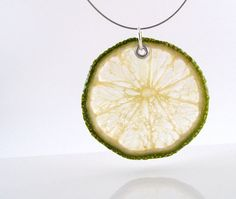 Lime Necklace  Real Fruit Jewelry  Fruit by RealFruitJewelry, $24.00