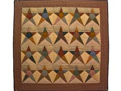 Plaid Homespun Stars Wall Hanging. Wonderful! What a superb collection of plaid fabrics. Well made in Lancaster by an Amish woman. Big enough to be used as a throw or a wall hanging.