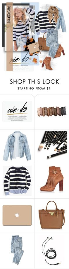 """Untitled #1859"" by lola-8march1982 ❤ liked on Polyvore featuring Urban Decay, Faustine Steinmetz, J.Crew, River Island, Michael Kors, Wrap and Tory Burch"