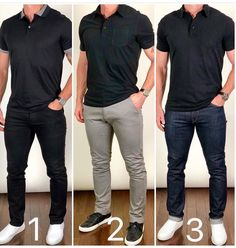 b92b78287e Which way would you wear or A black polo and black jeans