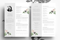 Professiona CV+Cover Letter/PSD+Word by Emily's ART Boutique  on Creative Market