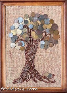 денежное дерево из монет (10)