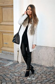 A little faux fur makes and everyday look extra luxe.