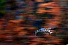 A Citroen DS3 driven by Sebastien Loeb of France during the shakedown of the Rallye Monte Carlo 2015 in Chateauvieux.