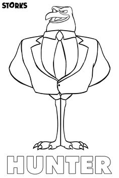 Storks Movie Night- Coloring Page