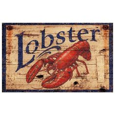 I pinned this Lobster Sign from the Maine Escape event at Joss and Main!