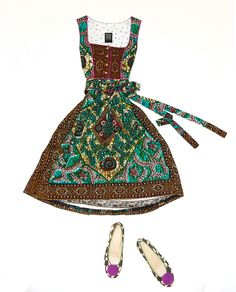 Bavarian dirndl with African fabrics // Noh Nee dirndl a l'Africaine
