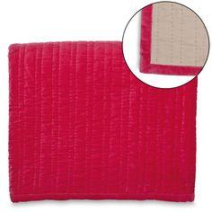 Velvet Sheen Quilt Hot Pink Queen $290 210x210cm