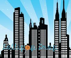 Illustration of new york vector art, clipart and stock vectors. Modern Landscape Design, Modern Landscaping, Superhero Background, Festa Pj Masks, Art Tips, Vector Art, Skyscraper, Scenery, Clip Art