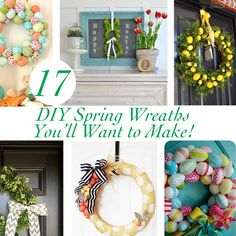 17 DIY Spring Wreaths You'll Want to Make!