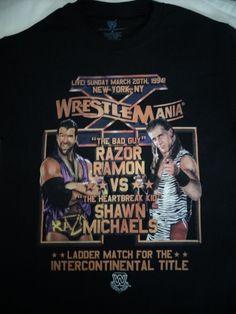 Shawn Michaels VS Razor Ramon Ladder Match Wrestlemania X 10 WWE Wrestling Shirt #RazorRamonShawnMichaels #GraphicTee