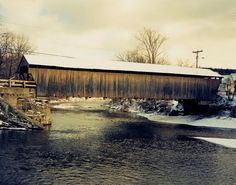 Covered Bridge, Waitsfield, VT.  Join us on our 2013 Vermont cycling tours. Visit www.classicadventures.com/our-bike-tours/vermont/vermont-champlain-valley-bike-tour.php