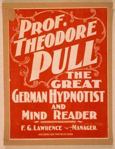 Vintage magic poster.