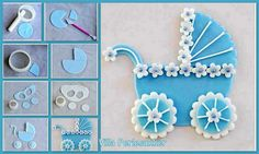 vintage pram cake topper tutorial from Villa Pearl Sugar