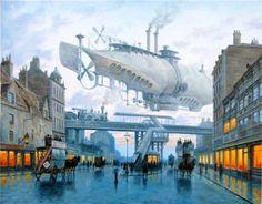 Steampunk/Dieselpunk Airship