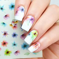 Flower Nail Transfer Stickers
