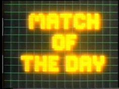 Match of the Day 1980 titles Match Of The Day, Growing Up, Nostalgia, Childhood, Memories, Bbc, Youtube, Packaging, Sofa