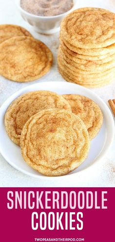 Looking for some nostalgic childhood food? You are going to LOVE this easy snickerdoodle cookie recipe. These soft and chewy snickerdoodle cookies are a family favorite, especially during the holiday months. These are the snickerdoodles of your childhood Holiday Cookie Recipes, Easy Cookie Recipes, Baking Recipes, Dessert Recipes, Homemade Cookie Recipe, Easy Holiday Cookies, Simple Recipes, Christmas Cookies, Gastronomia