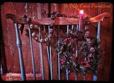 Antique brass jingle bell strand Ye Olde Crow primitives