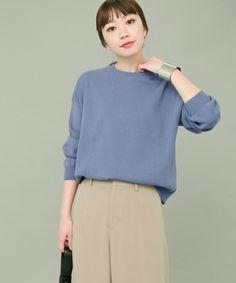 【ZOZOTOWN 送料無料】KBF+(ケービーエフプラス)のニット/セーター「KBF+ ハイネックニット」(KP74-22T004)を購入できます。 Knitting, Blouse, Long Sleeve, Sleeves, Tops, Women, Fashion, Moda, Tricot