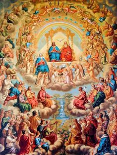 """Blessed Feast Day of All our Saints! – November 1 The earliest certain observance of a feast in honour of all the saints is an early fourth-century commemoration of """"all the martyrs."""" In the early seventh century, after successive waves of invaders. Catholic Pictures, Jesus Pictures, Catholic Art, Catholic Saints, Roman Catholic, Religious Images, Religious Art, All Souls Day, Religion Catolica"""