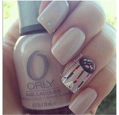 Beautiful dream catcher Indian simple nail design