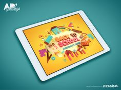 Back to school greeting card on Behance #backtoschool #3D #typography