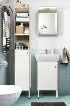 Find storage space you never thought you had with the space saving TYNGEN bathroom series!