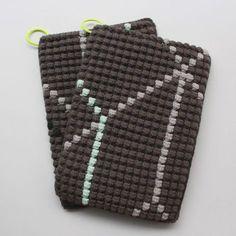 Opskrift på hæklede grydelapper med bobbelmønster / Crochet Potholders Pattern   Lutter Idyl