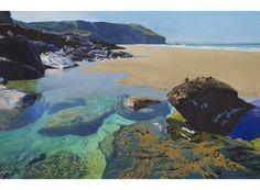 , Trebarwith, North Cornwall, Watercolour, 93 x 127 cm, SOLD