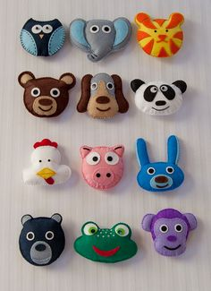 my latest diy project - felt animal faces to make up my own baby mobile. so fun to make!