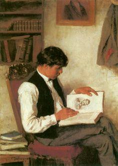 Der Leser.  Franz von Defregger (1835-1921) Austrian painter.