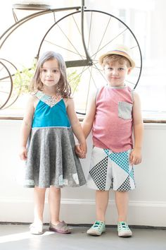 summery kid outfits for the project run & play finale