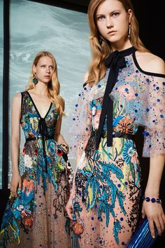 Elie Saab Resort 2018: These dresses reminds me of beautiful colorful birds! The colors pop!