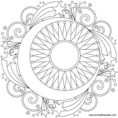 moon and stars mandala