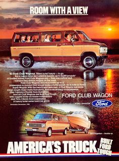 1982 Ad 1983 Ford Club Wagon E-Series Econoline Full Size Van Automobile 3 Door