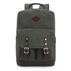 British Style Casual Canvas Backpack College Bag