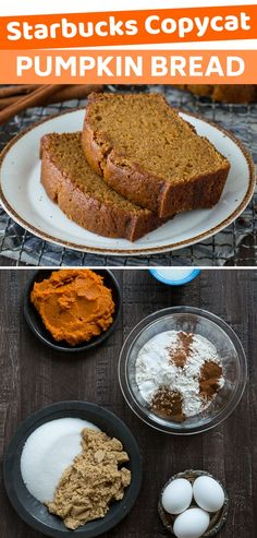 This recipe tastes just like Starbucks Pumpkin Pound Cake - takes 15 minutes to prep you will want to share this with friends and family Can be made in muffin mini muffin or mini loaf pans pumpkinpoundcake pumpkinbread pumpkinloaf starbuckspumpkinbread Starbucks Pumpkin Bread, Pumpkin Loaf, Pumpkin Dessert, Pumpkin Spice Latte, Pumpkin Carving, Mini Loaf Pumpkin Bread Recipe, Starbucks Pumpkin Pound Cake Recipe, Starbucks Food, Sweets