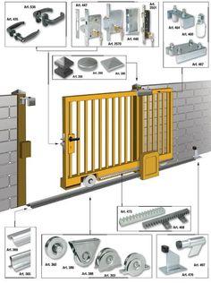 Diy Sliding Gate Fence Pinterest Sliding Gate Gate