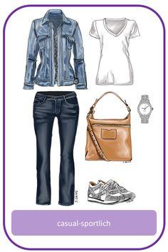 casual sportliches Freizeit-Outfit mit Jeans